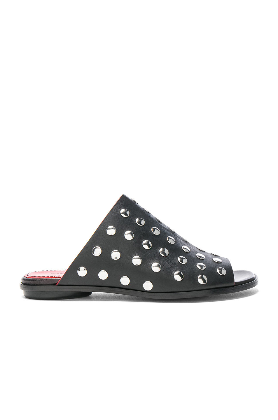 Proenza Schouler Studded Leather Sandals in Black