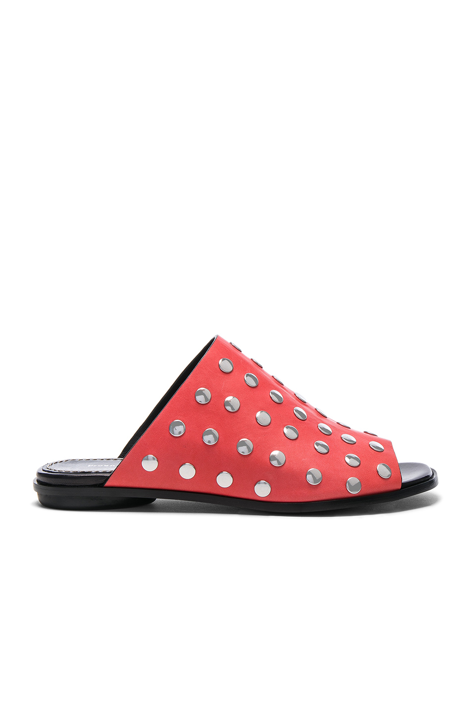 Proenza Schouler Studded Leather Sandals in Red