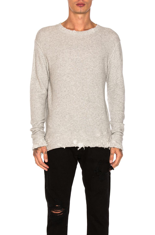 R13 Vintage Sweatshirt in Gray