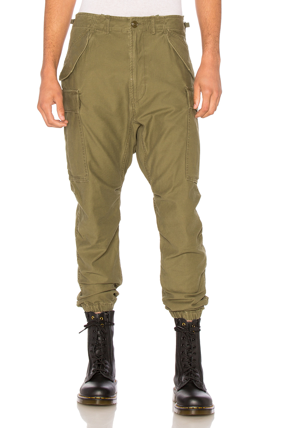 R13 Surplus Military Cargo Pants in Green