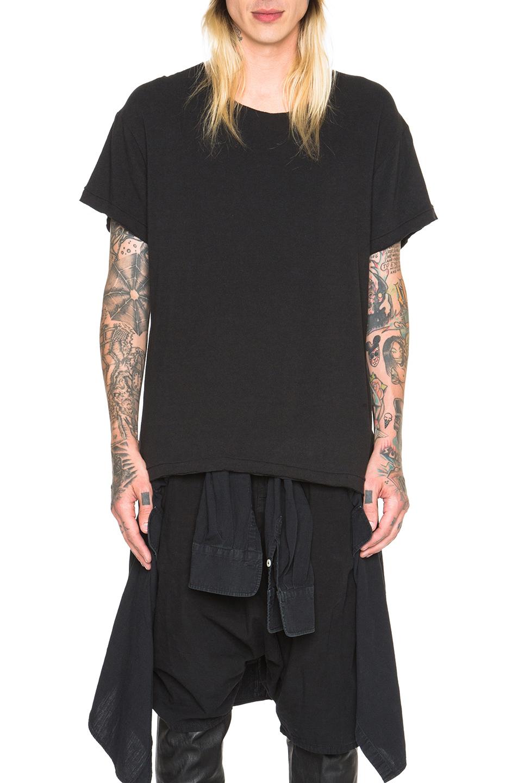 R13 Lukas Tee in Black