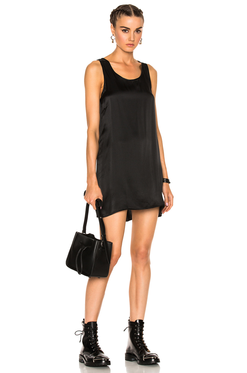 R13 Mini Tank Dress in Black
