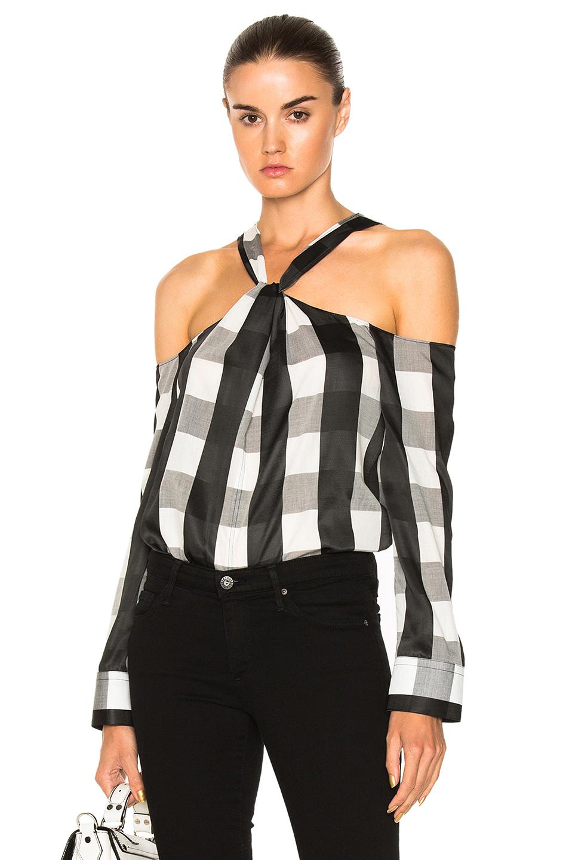 Rag & Bone Collingwood Top in Black,Checkered & Plaid,White