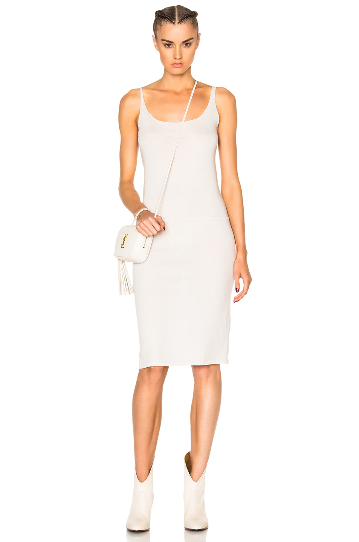Raquel Allegra Layering Tank Dress in White