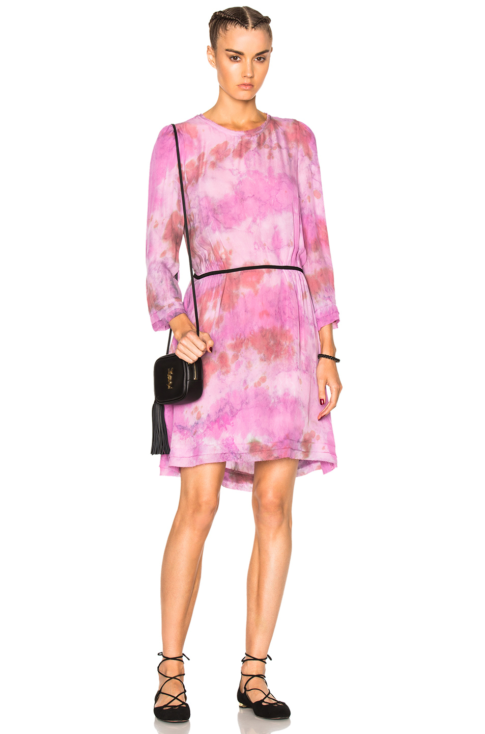 Raquel Allegra Swing Dress in Pink,Ombre & Tie Dye