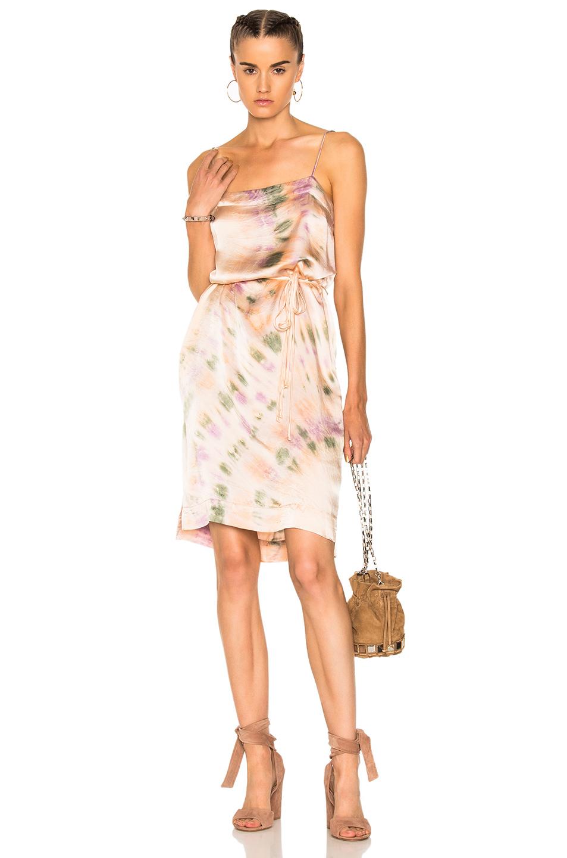 Raquel Allegra Spaghetti Dress in Ombre & Tie Dye,Pink,Purple