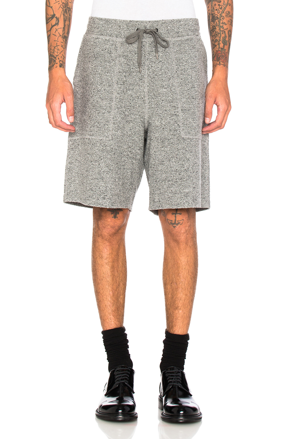Robert Geller Richard Shorts in Gray