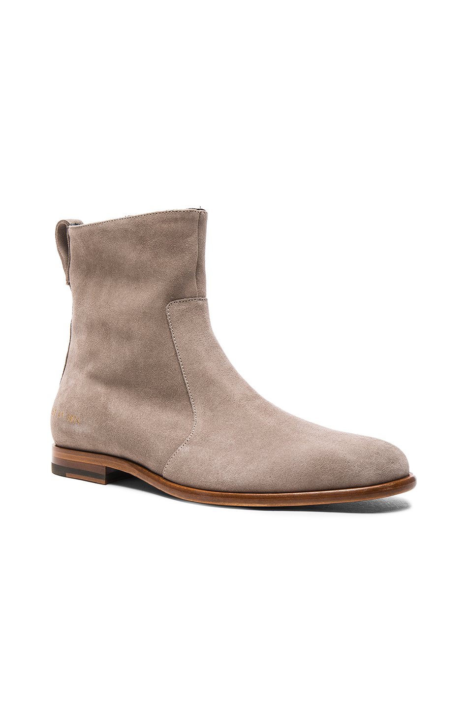 Robert Geller x Common Projects Suede Chelsea Boots in Gray