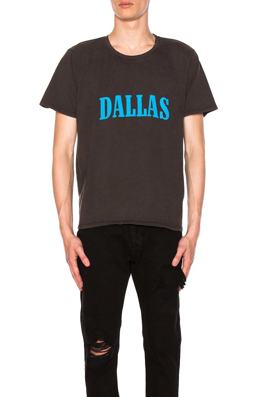 Photo of Rhude Dallas T-Shirt in Black - shop Rhude menswear