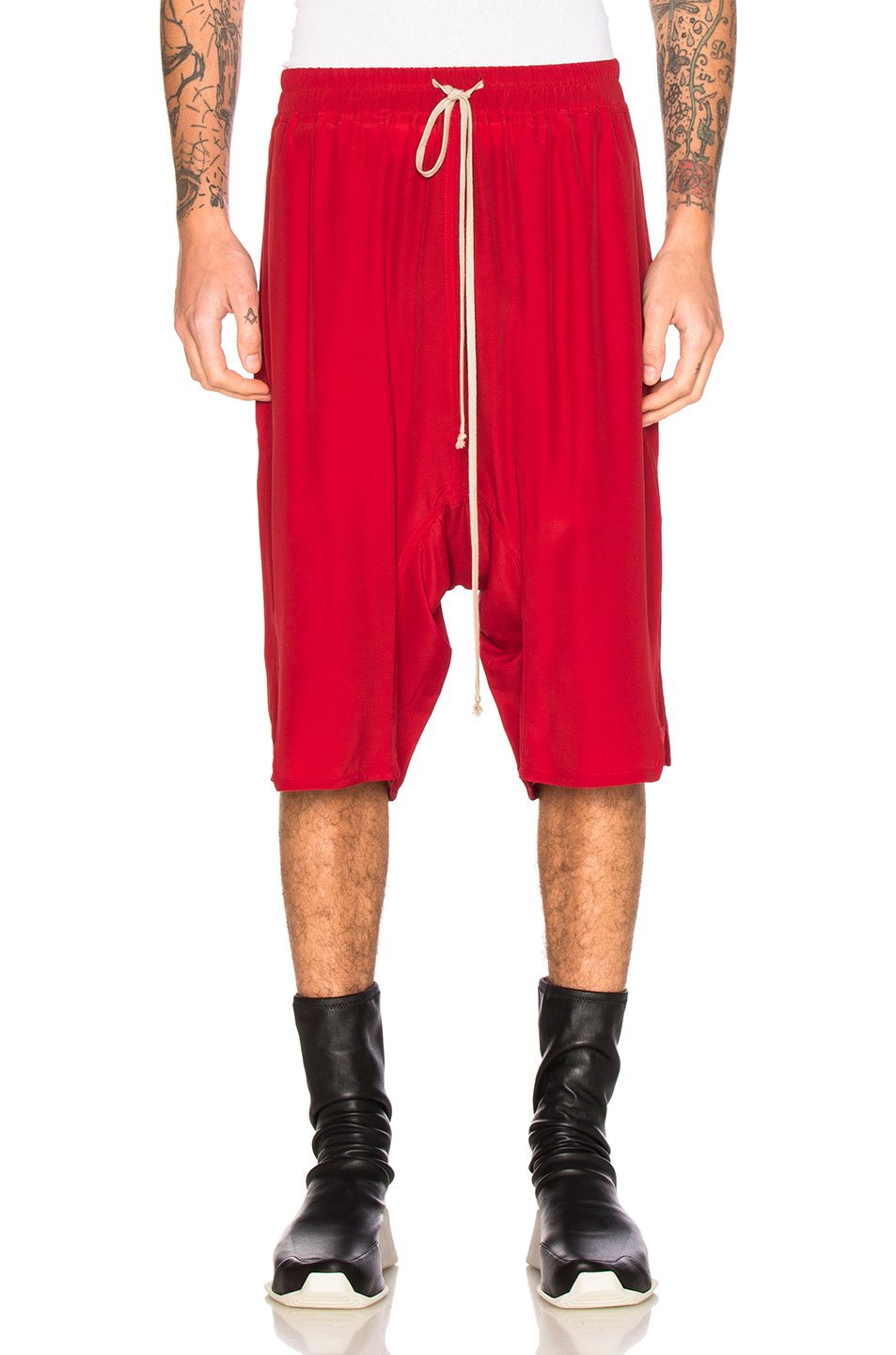 Rick Owens Basket Swinger Shorts in Red