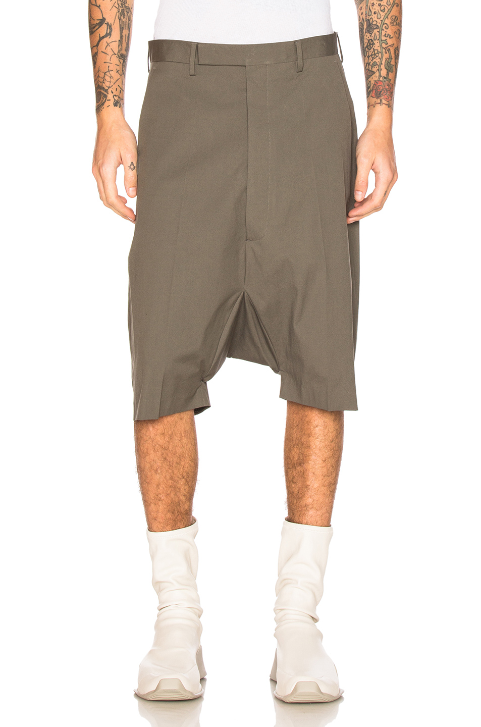 Rick Owens Tailored Podshorts in Gray