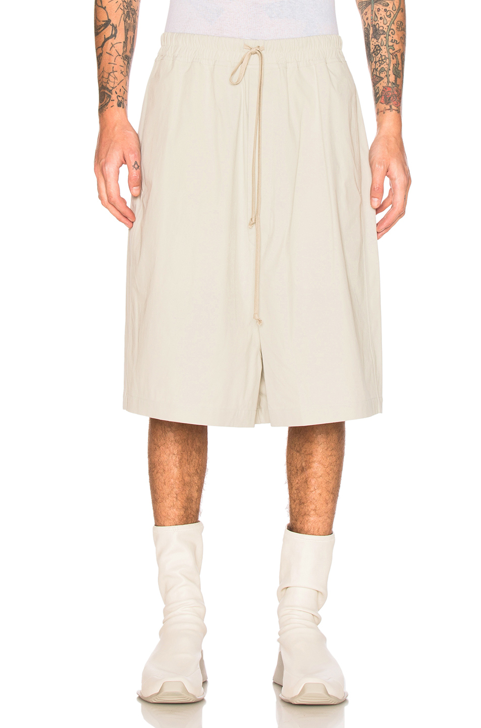 Rick Owens Megashorts in Gray,Neutrals