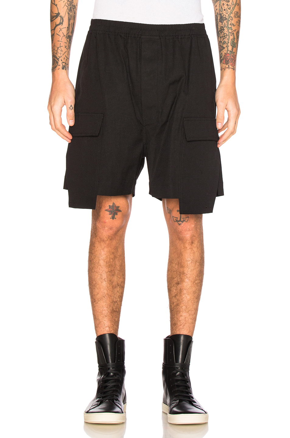 Rick Owens Drawstring Cargo Boxers in Black