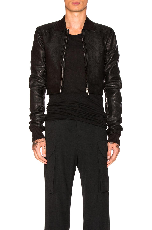 Rick Owens Glitter Bomber in Black