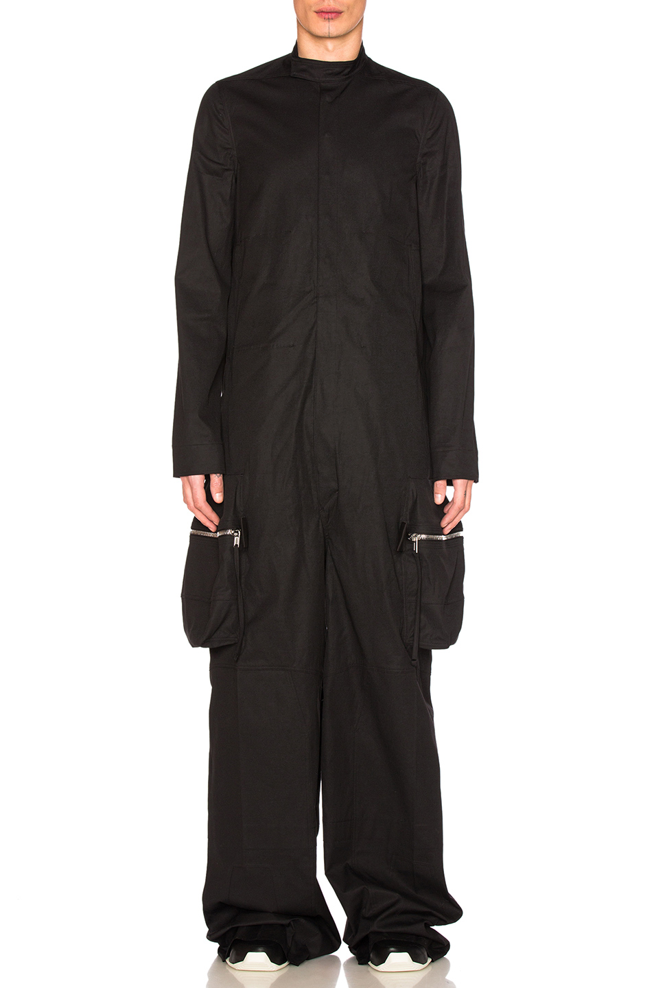 Rick Owens Long Sleeve Megacargo Bodybag in Black