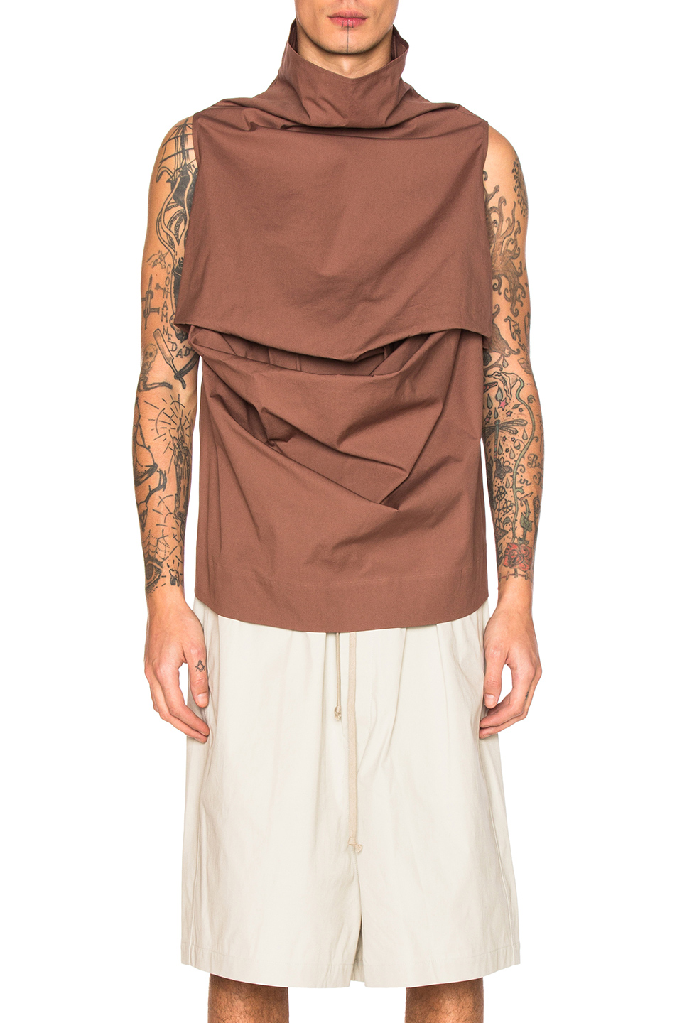 Rick Owens Pelican Top in Brown,Neutrals