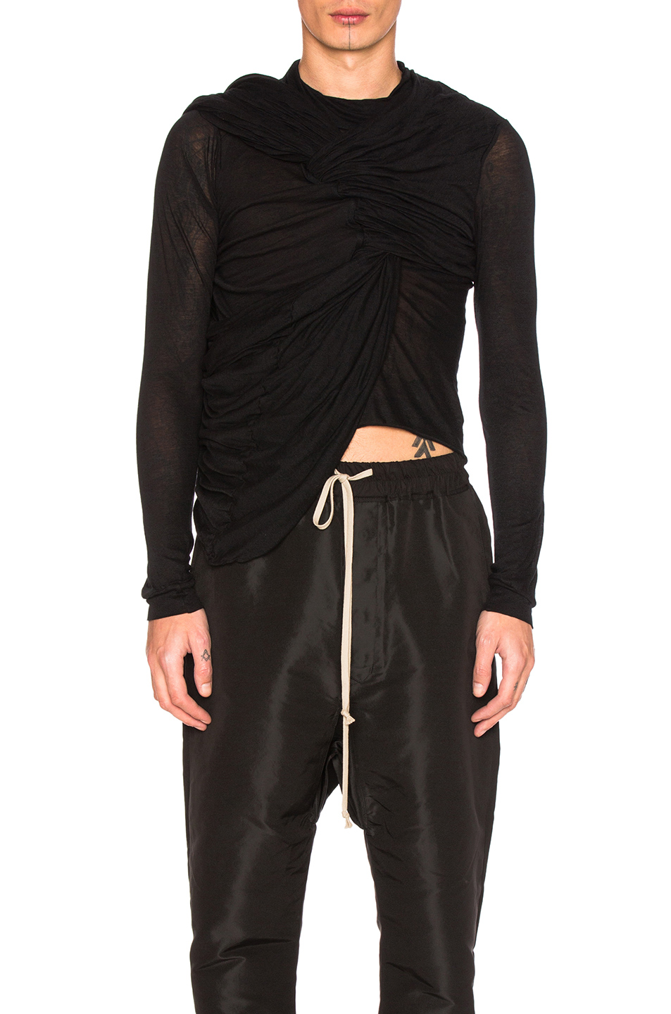 Rick Owens Trunk Tee in Black