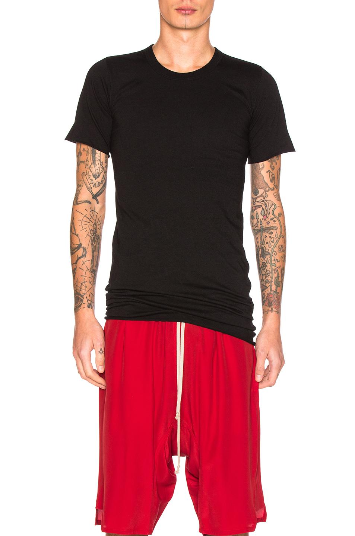 Rick Owens Basic Short Sleeve Tee in Black