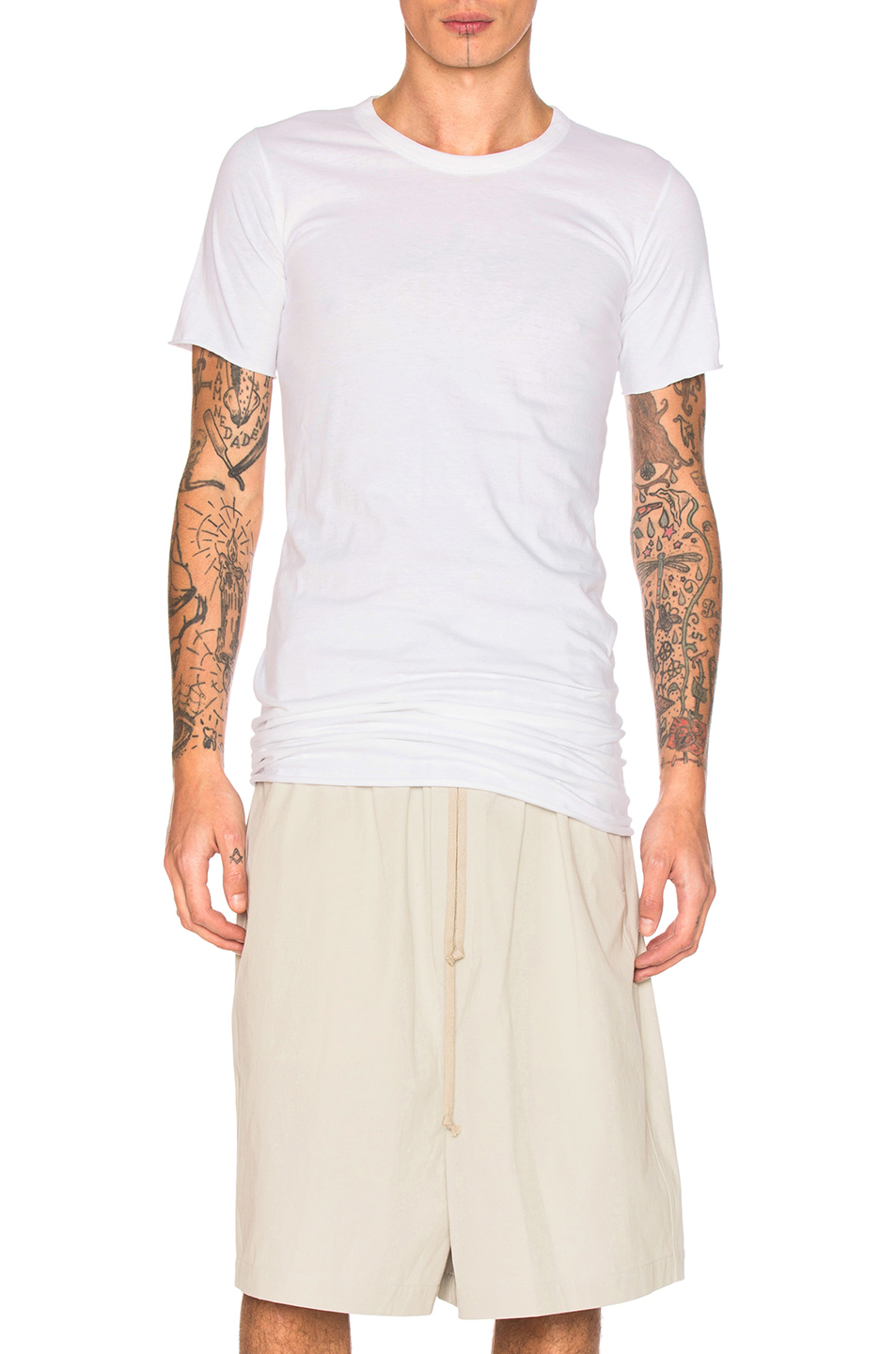 Rick Owens Basic Short Sleeve Tee in White