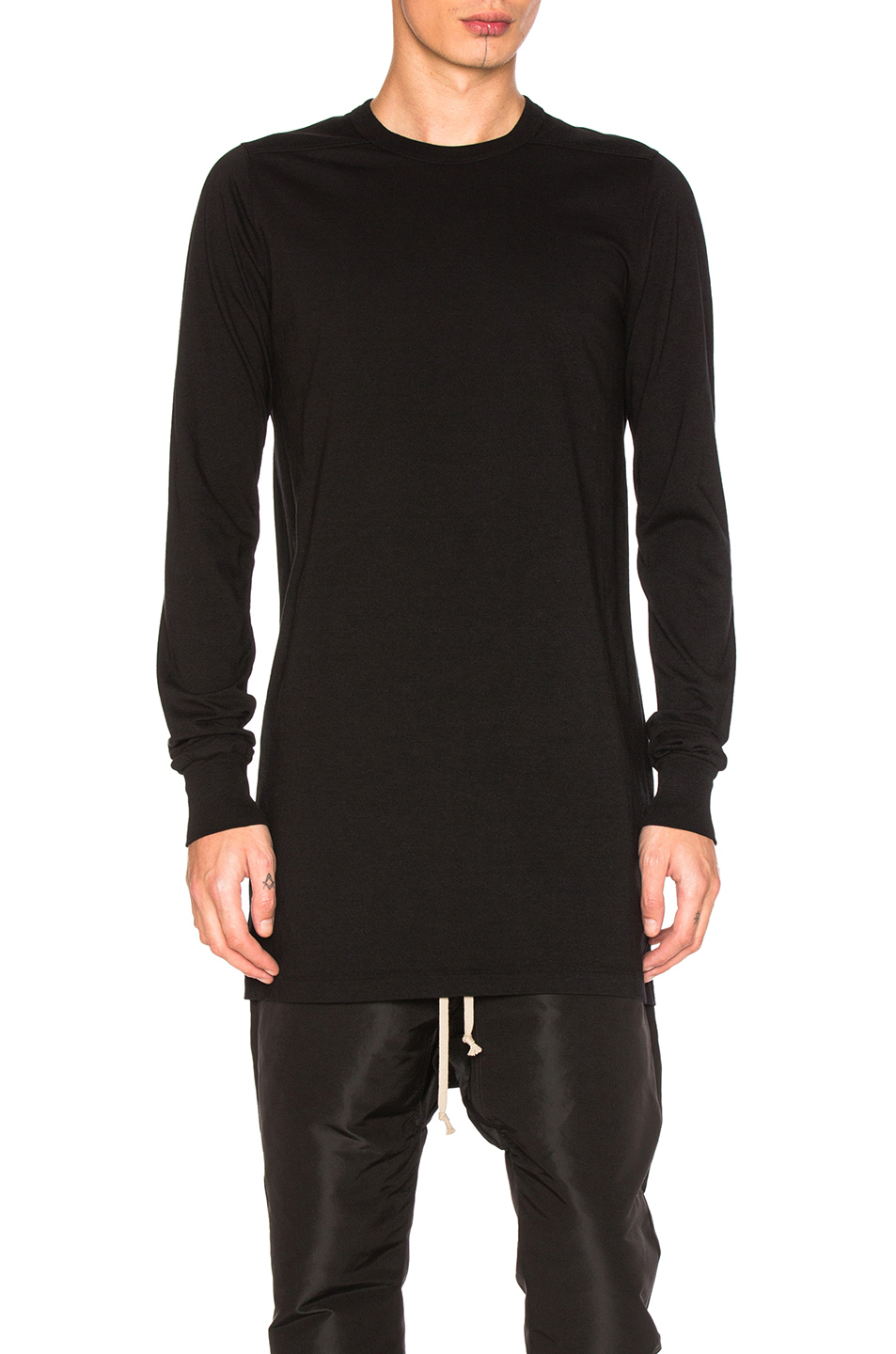 Rick Owens Long Sleeve Level Tee in Black