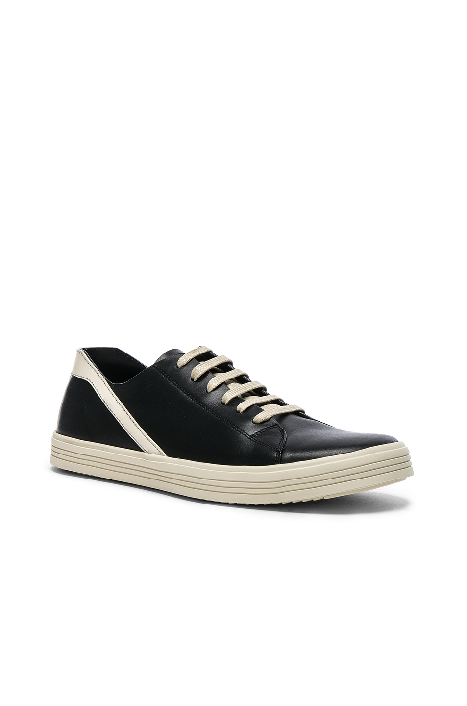 Rick Owens Leather Geothrasher Sneakers in Black