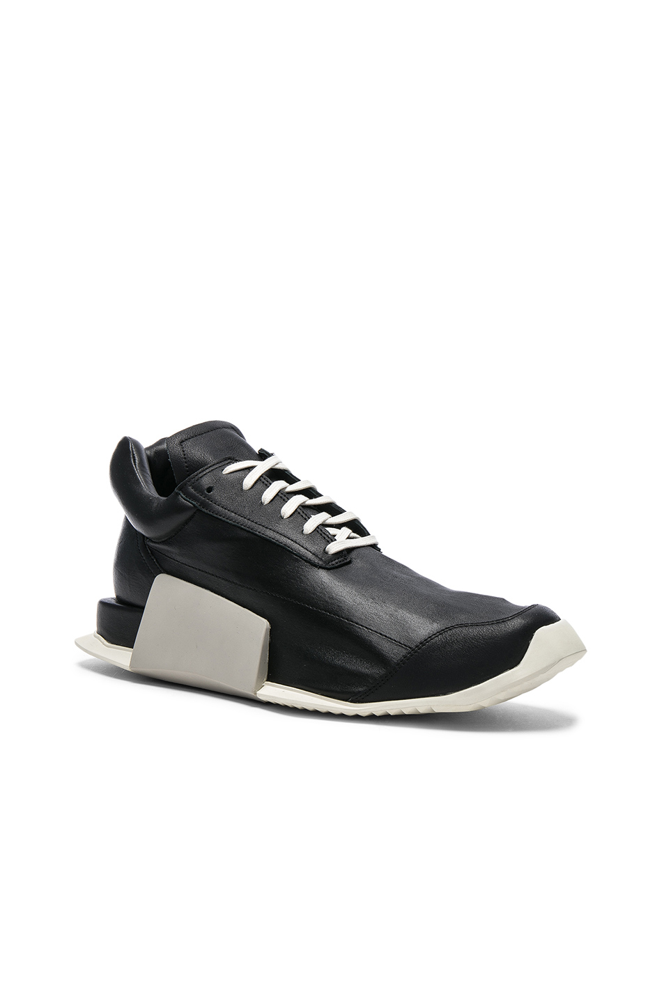 Rick Owens x Adidas Level Runner Boosts in Black
