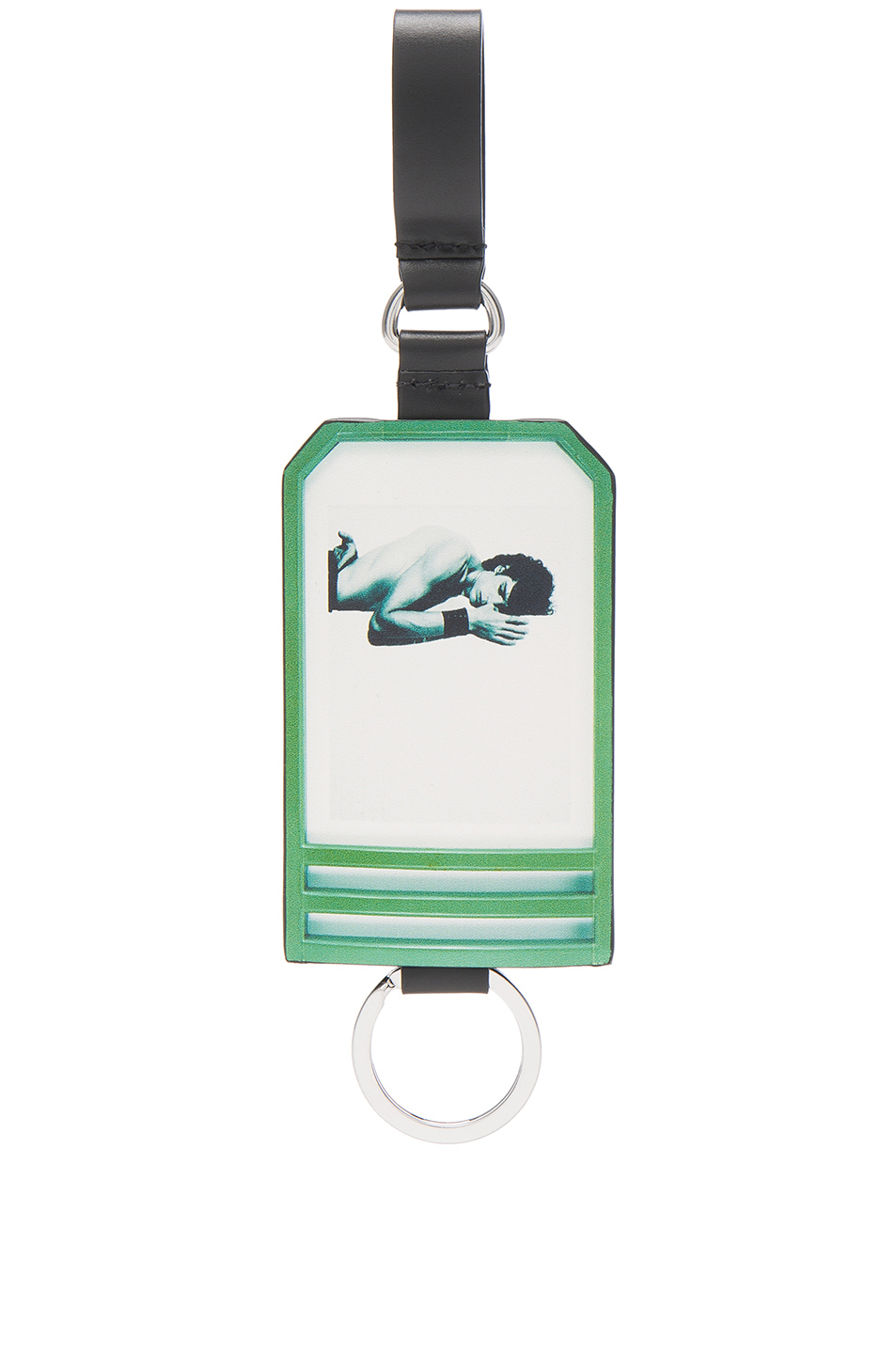 Raf Simons Self Portrait Key Holder in Green