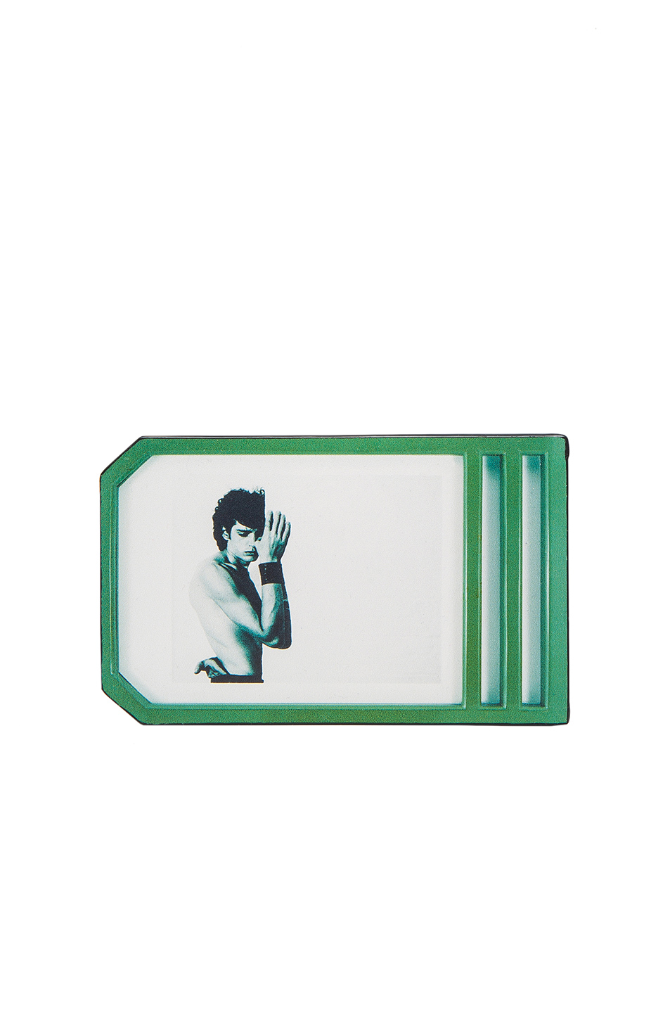 Raf Simons Self Portrait Cardholder in Green