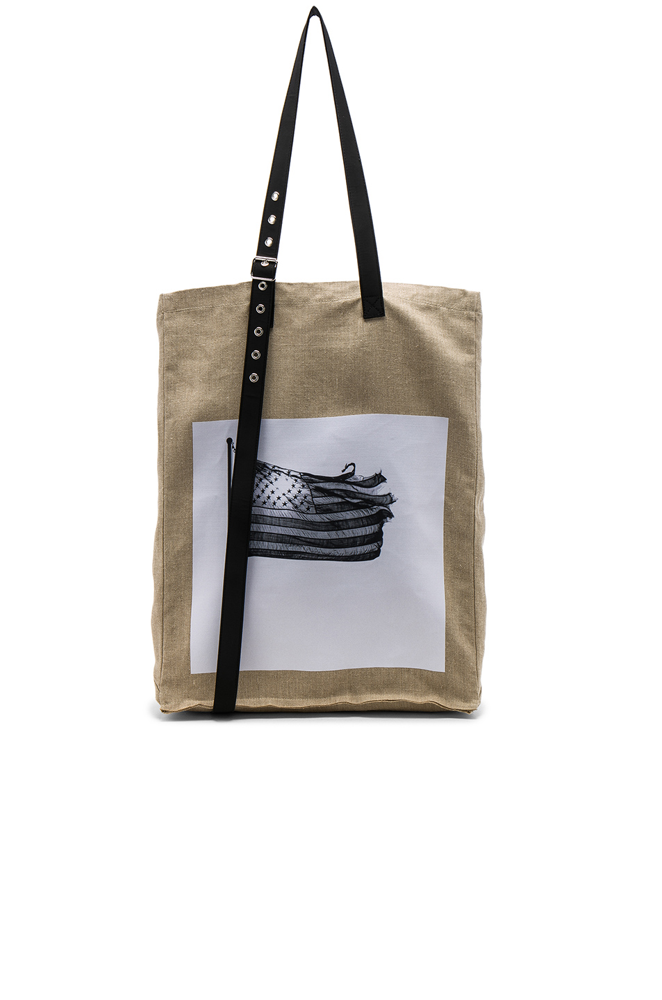 Raf Simons American Flag Tote in Neutrals