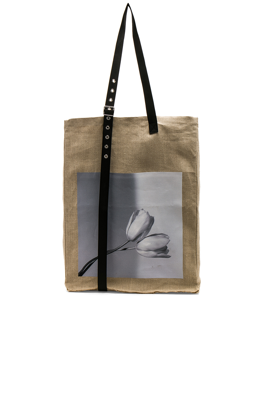 Raf Simons Tulips Flag Tote in Neutrals