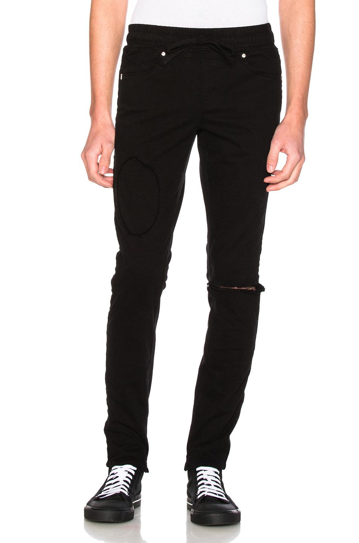 RtA Elastic Waist Jeans in Black