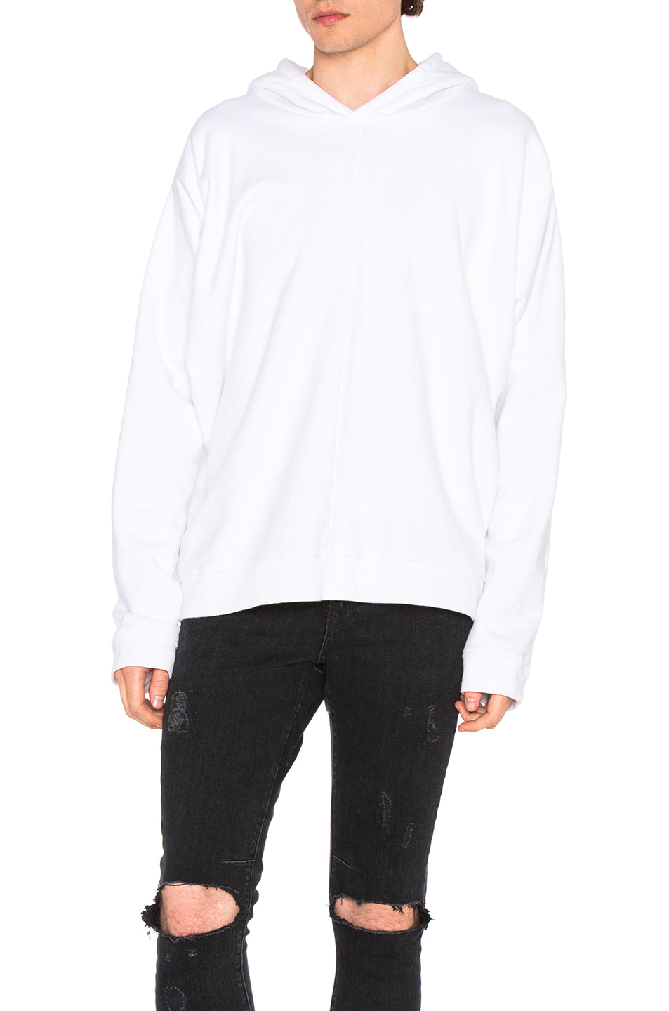RtA Batwing Hoodie in White