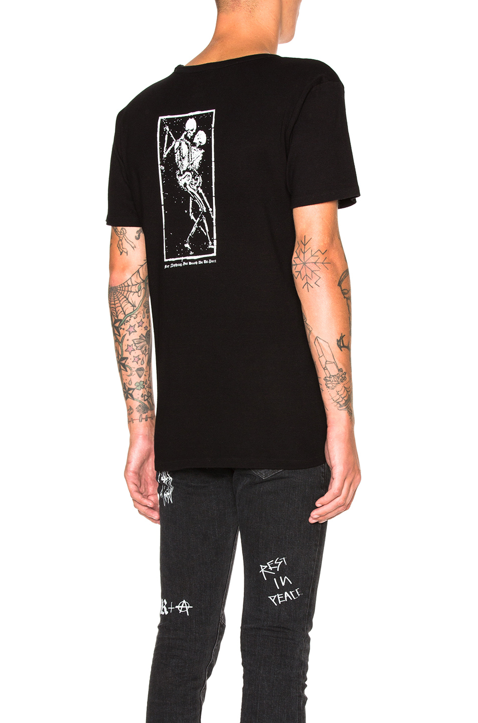 RtA Square Dance Print Tee in Black