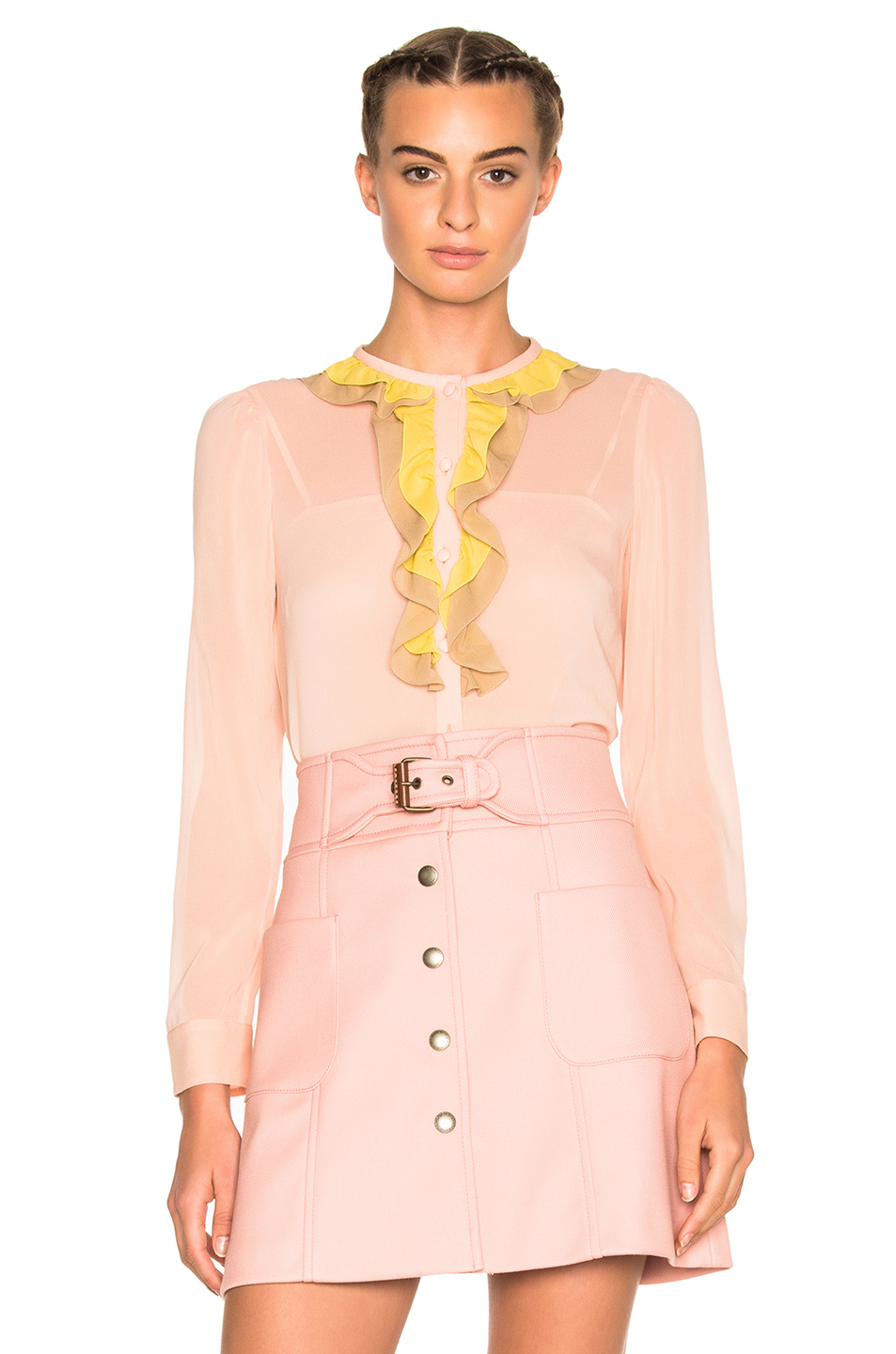 Red Valentino Ruffle Top in Pink