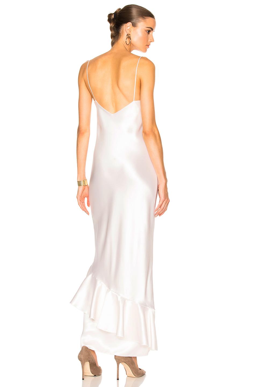 Ryan Roche Slip Dress in Metallics,White