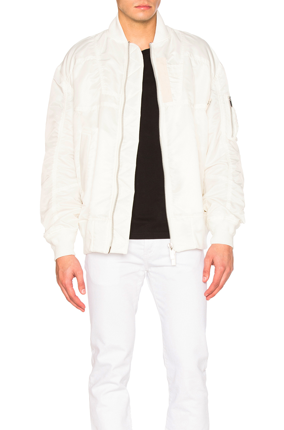 Sacai MA1 Blouson in White