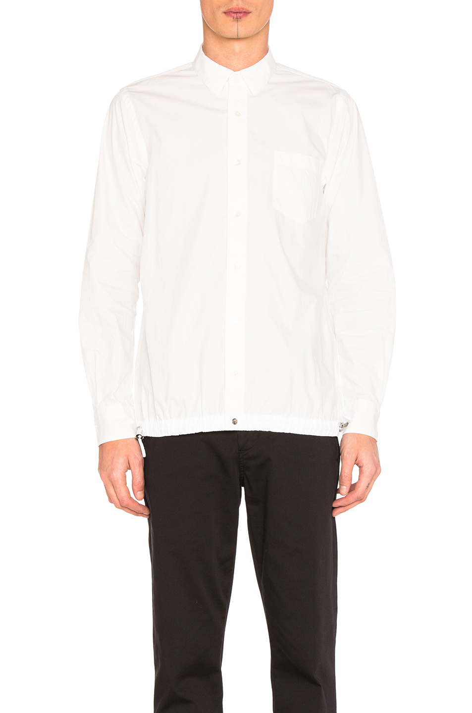 Sacai Typewriter Pattern Shirt in White