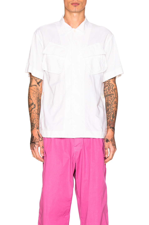 Sacai Oxford Shirting Shirt in White