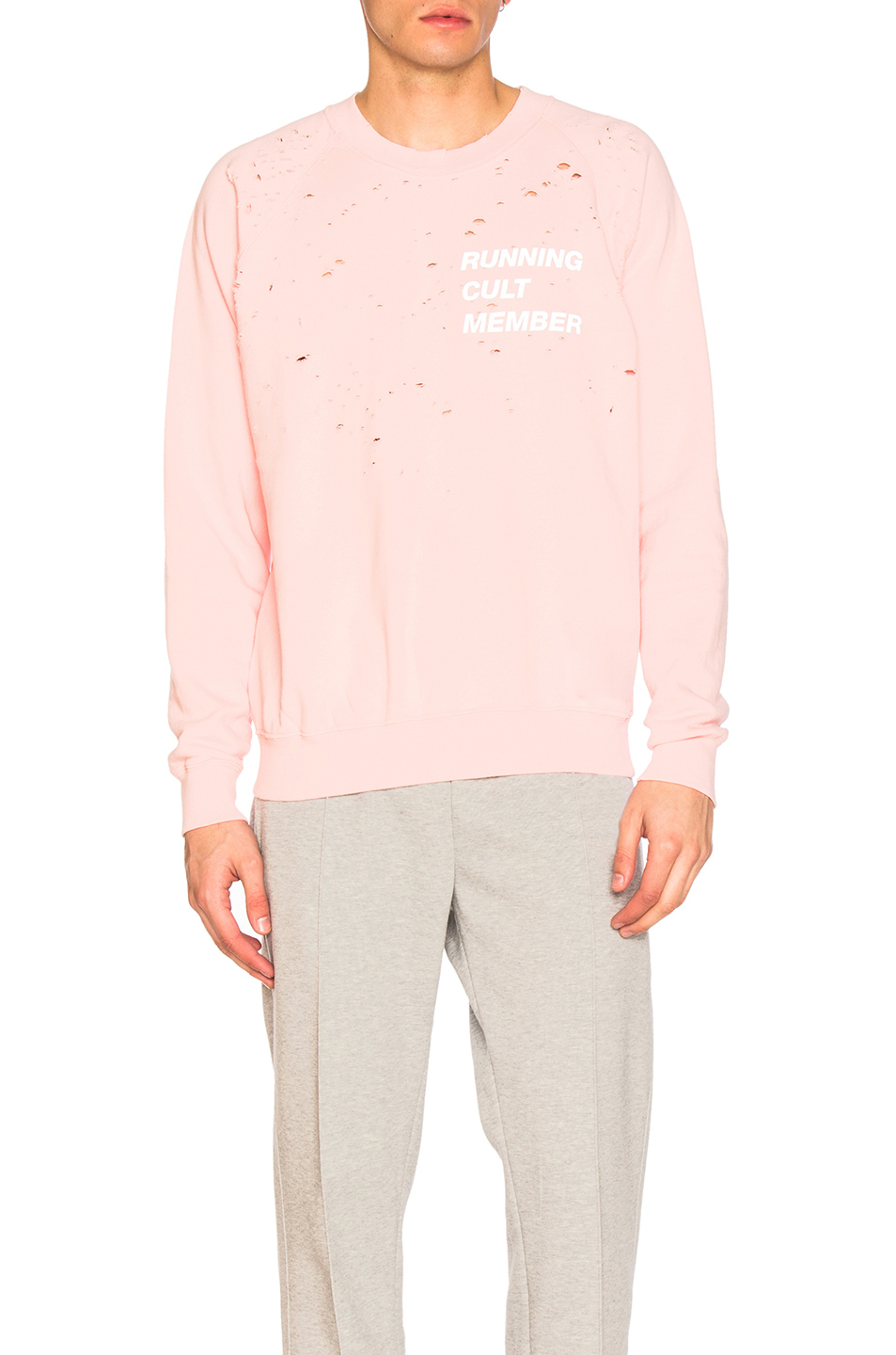 Satisfy Cult Moth Eaten Sweatshirt in Pink