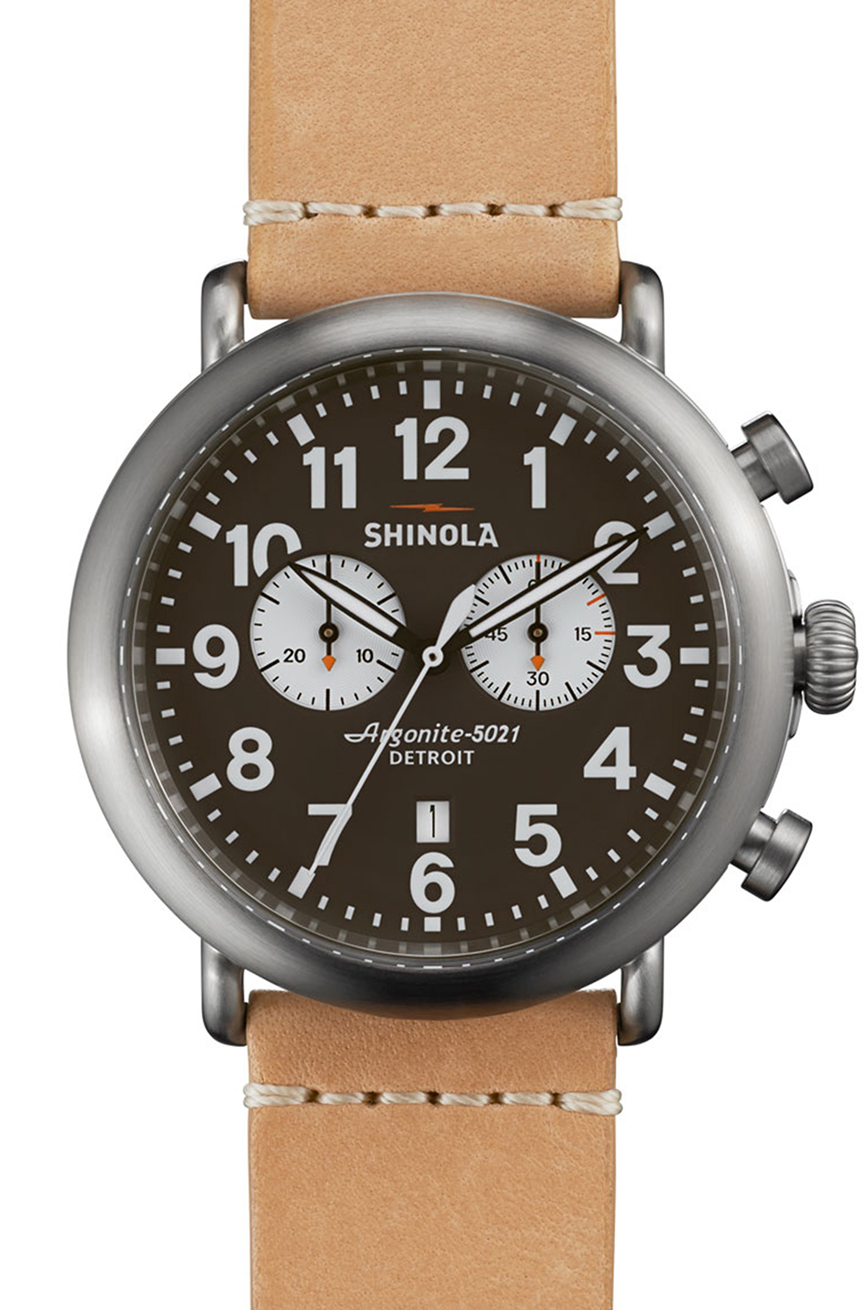 Shinola The Runwell Chrono 47mm in Neutrals,Metallics