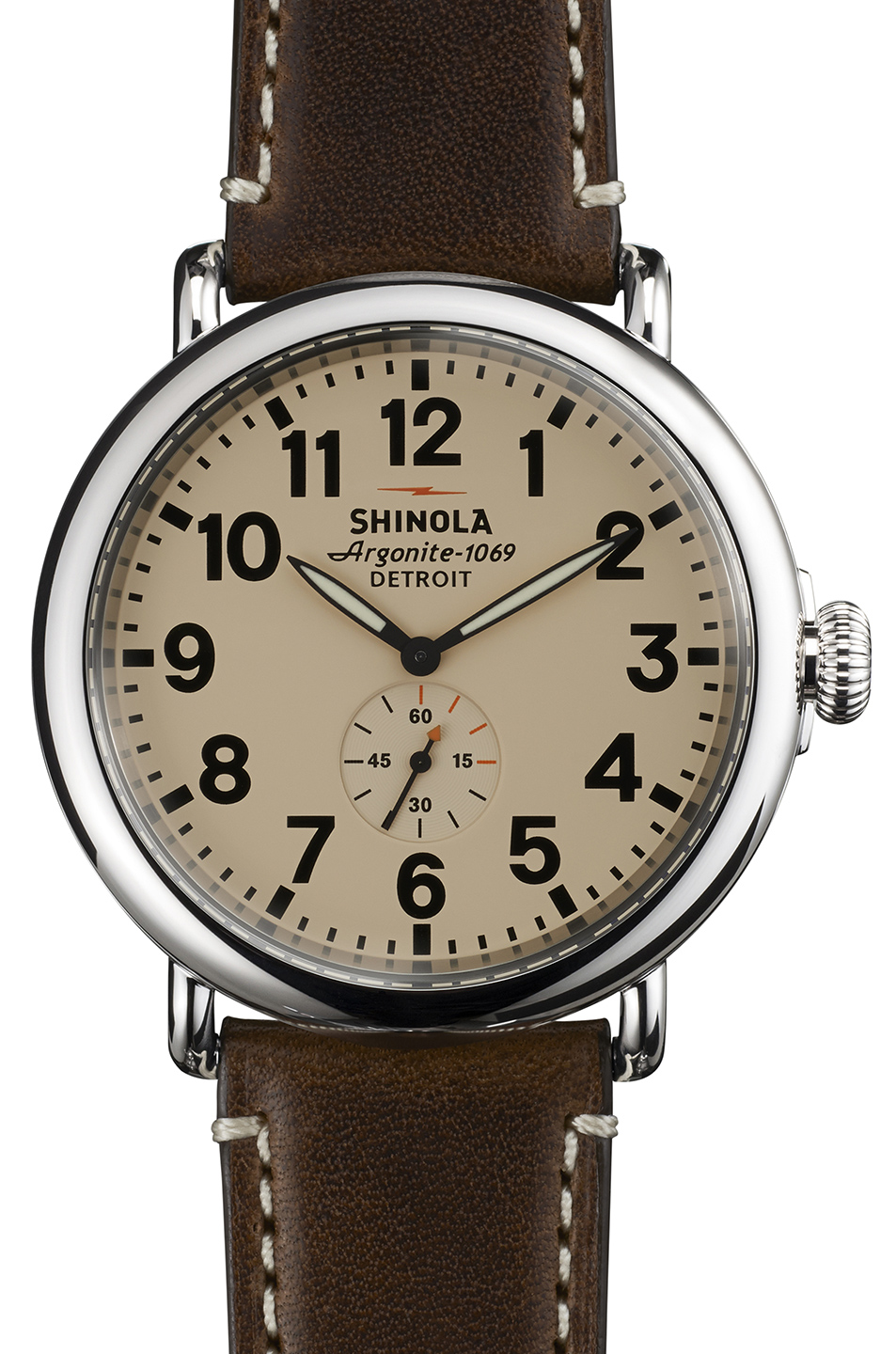 Shinola The Runwell 47mm in Metallics,Brown