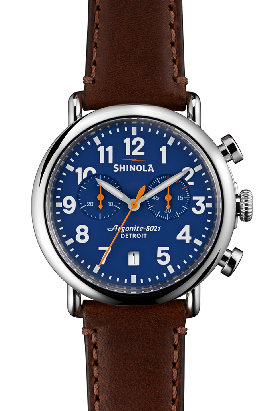 Shinola The Runwell Chrono 41mm in Brown,Metallics