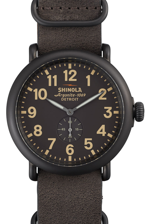 Shinola The Runwell 41mm in Gray,Metallics