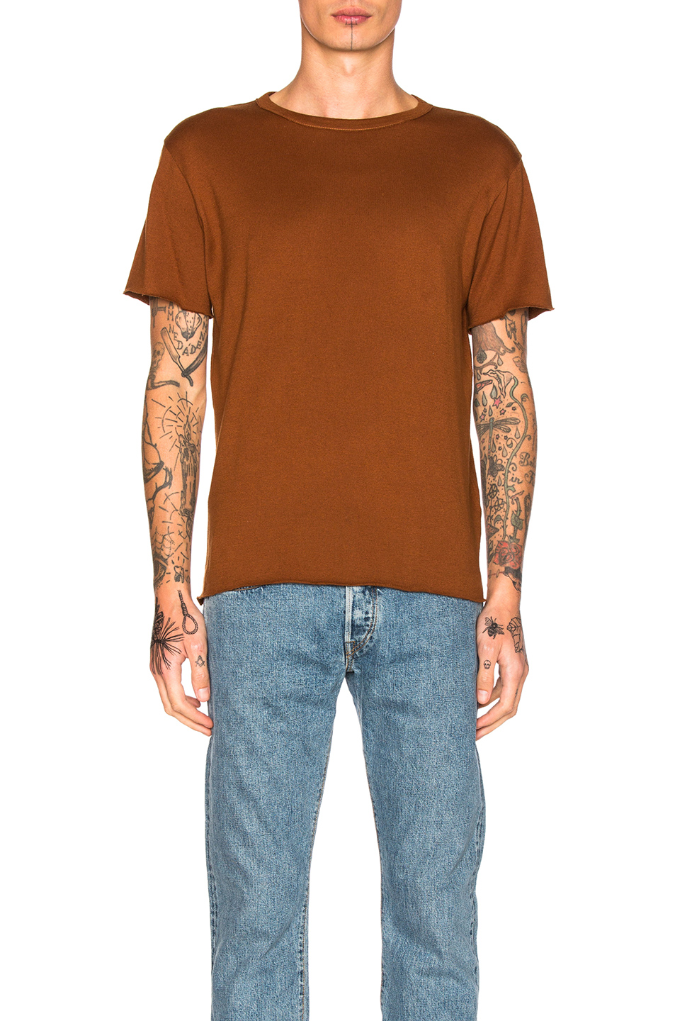 Simon Miller Alameda T-Shirt in Brown,Neutrals