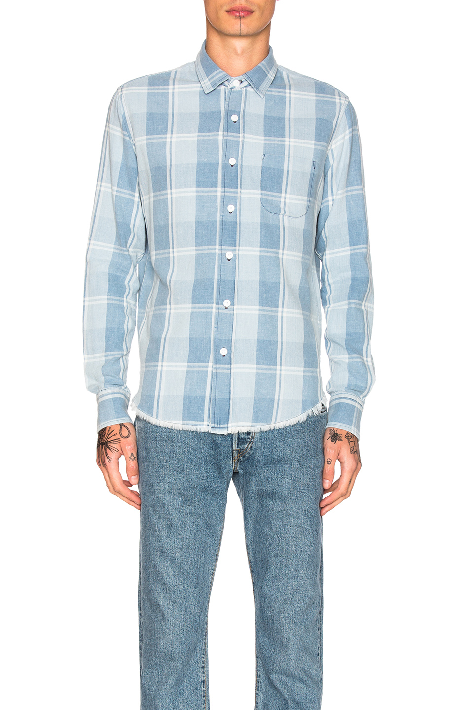 Simon Miller Pismo Shirt in Blue,Checkered & Plaid