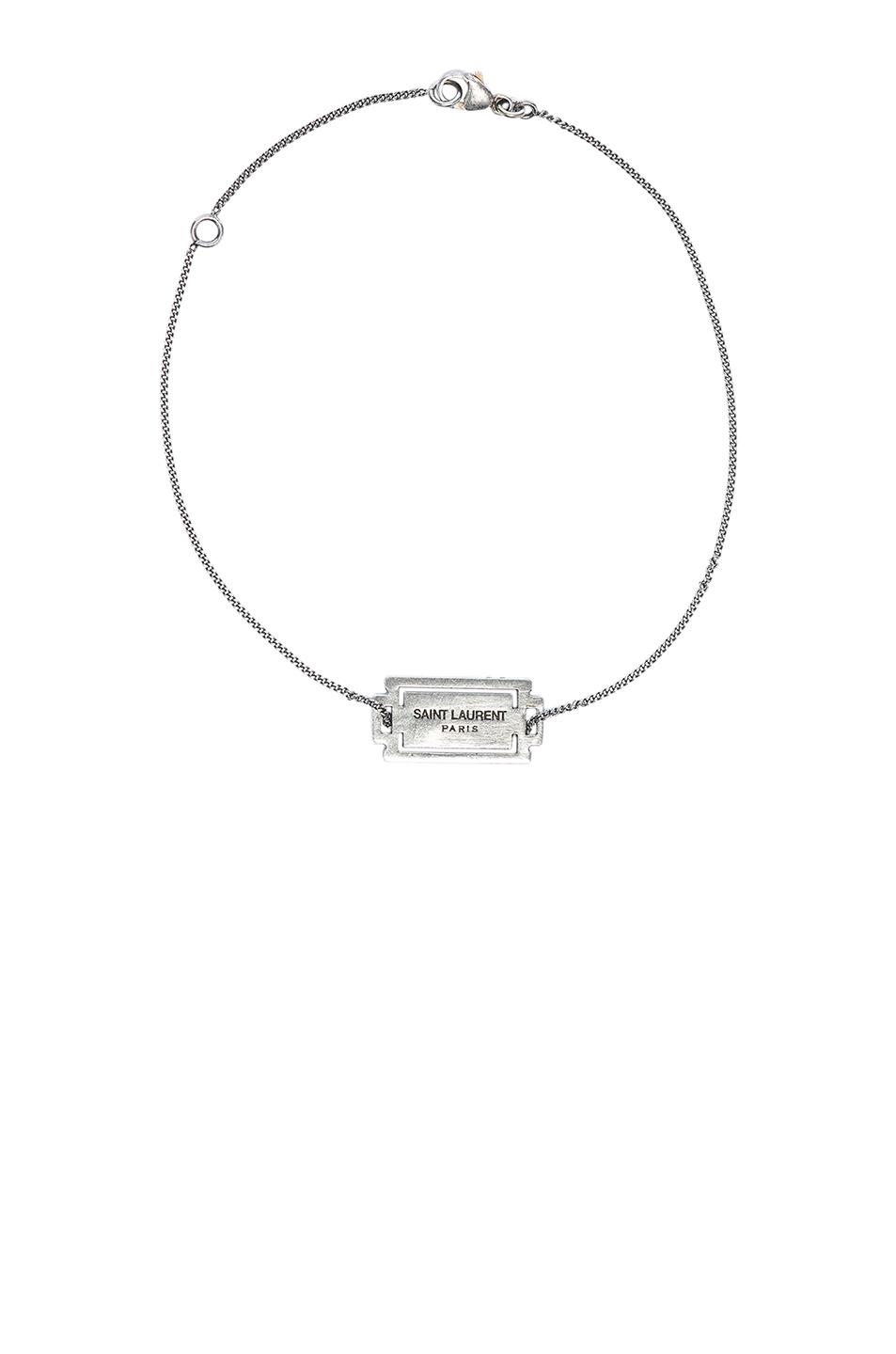 Saint Laurent Logo Bracelet in Metallics