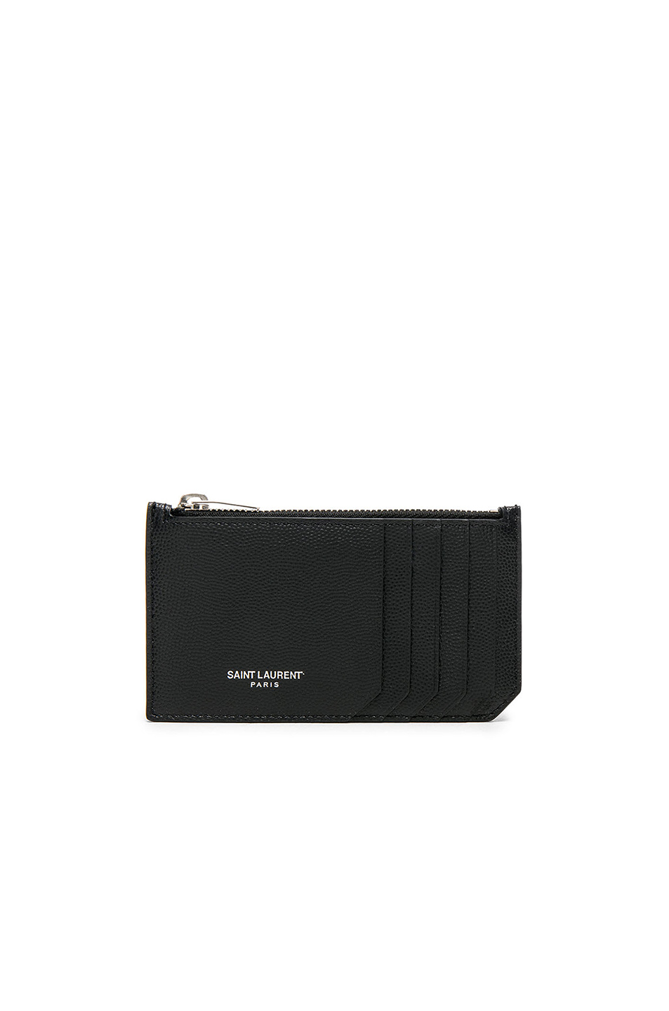 Saint Laurent Zipped Fragments Credit Card Case in Black