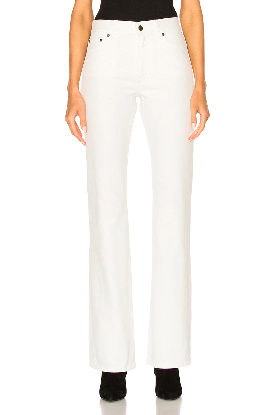 Saint Laurent Flare Jeans in White