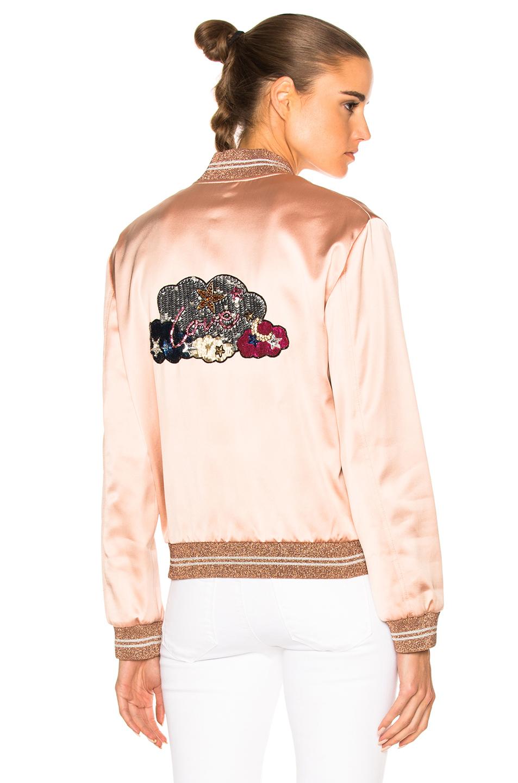 Saint Laurent Satin Lover Teddy in Neutrals,Pink