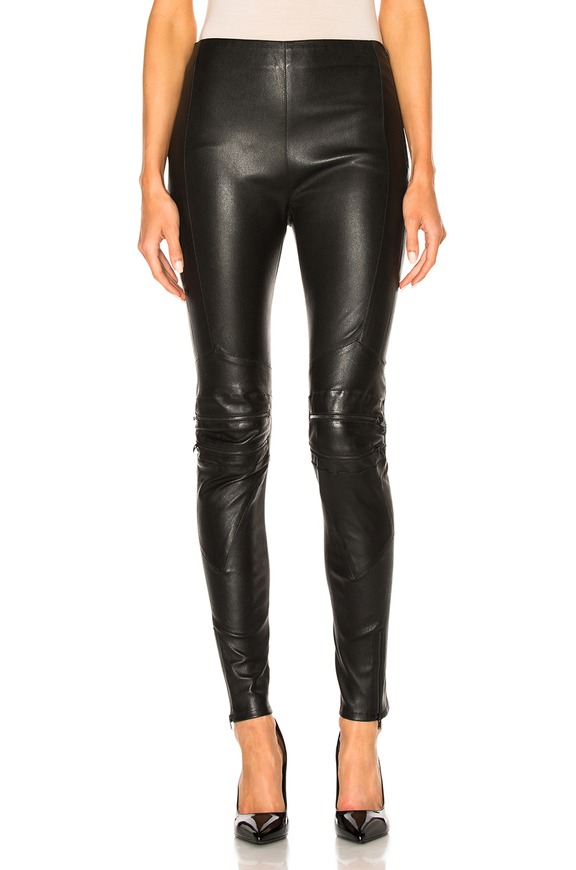 Saint Laurent Motorcycle Legging in Black